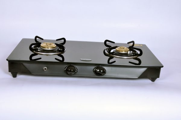 2 bunrer glass gas stove